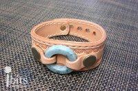円環のレザーブレス(碧)